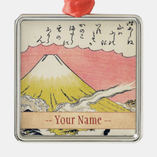 The Syllable He  Passing Mount Fuji japanese art Metal Ornament