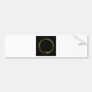 The symbol of Ouroboros snake Bumper Sticker