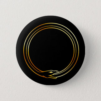 The symbol of Ouroboros snake Button