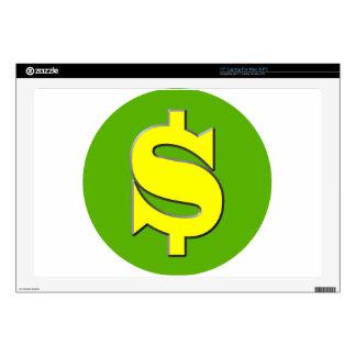 "The Symbol of Wealth 17"" Laptop Skins"