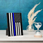 The Symbolic Thin Blue Line American Flag Plaque