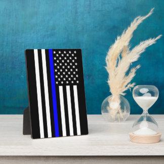 The Symbolic Thin Blue Line American Flag Plaque