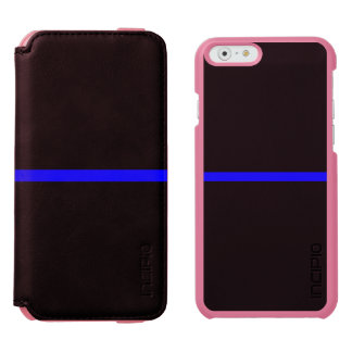 The Symbolic Thin Blue Line Concept iPhone 6/6s Wallet Case