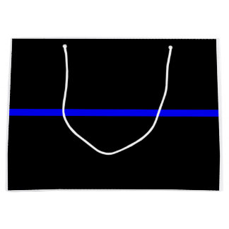 The Symbolic Thin Blue Line Concept Large Gift Bag