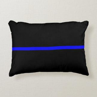 The Symbolic Thin Blue Line Decor Decorative Pillow