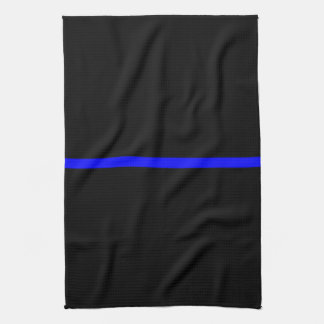 The Symbolic Thin Blue Line Decor Hand Towel