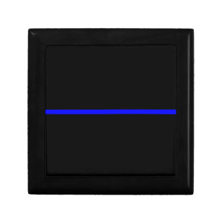The Symbolic Thin Blue Line Decor Jewelry Box