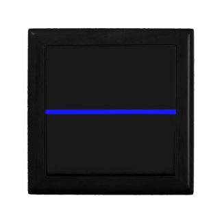 The Symbolic Thin Blue Line Decor Jewelry Box