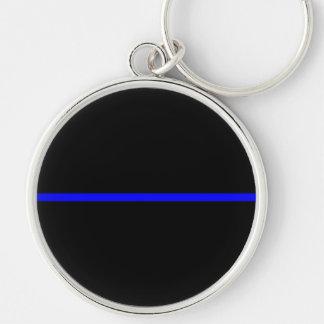 The Symbolic Thin Blue Line Decor Keychain