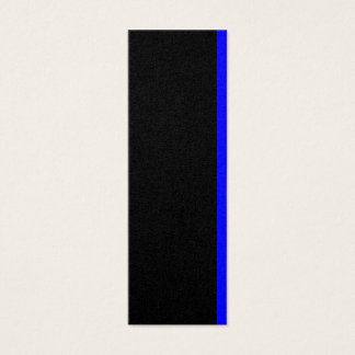 The Symbolic Thin Blue Line Decor Mini Business Card