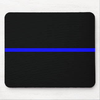 The Symbolic Thin Blue Line Decor Mouse Pad