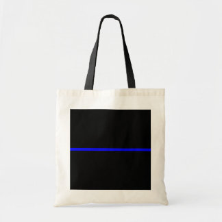 The Symbolic Thin Blue Line Decor Tote Bag