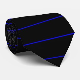 The Symbolic Thin Blue Line Fashion Tie