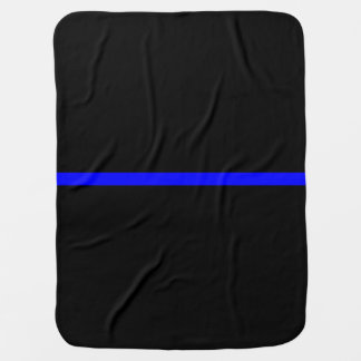 The Symbolic Thin Blue Line Graphic Baby Blanket
