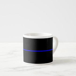 The Symbolic Thin Blue Line Graphic Espresso Cup