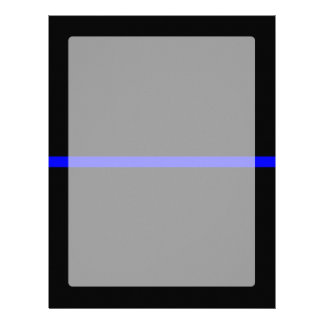 The Symbolic Thin Blue Line Graphic Letterhead