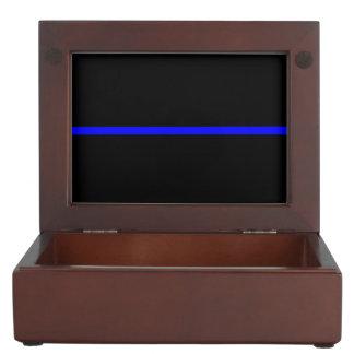 The Symbolic Thin Blue Line Graphic Memory Box