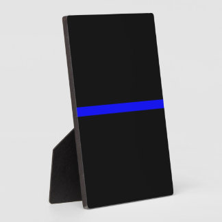 The Symbolic Thin Blue Line Graphic Plaque