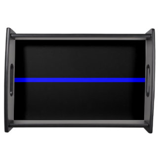 The Symbolic Thin Blue Line Graphic Serving Tray