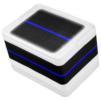 The Symbolic Thin Blue Line Horizontal Black Cooler