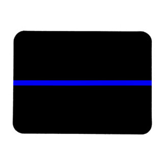 The Symbolic Thin Blue Line Horizontal Black Rectangular Photo Magnet