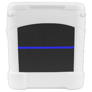 The Symbolic Thin Blue Line Horizontal Black Rolling Cooler