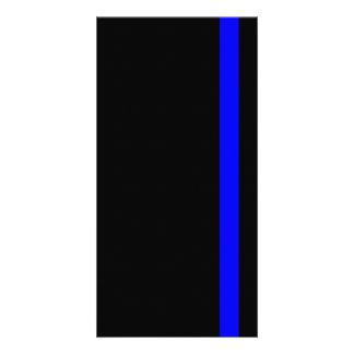 The Symbolic Thin Blue Line on Black Card