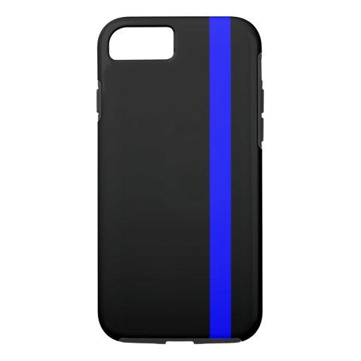 The Symbolic Thin Blue Line on Black iPhone 8/7 Case