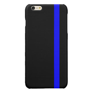 The Symbolic Thin Blue Line on Black Glossy iPhone 6 Plus Case