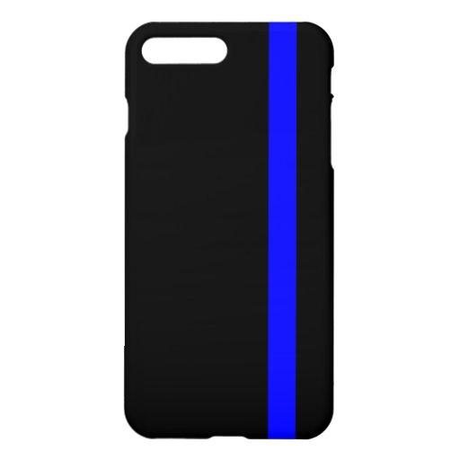 The Symbolic Thin Blue Line on Black iPhone 8 Plus/7 Plus Case