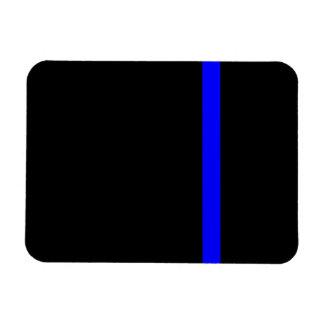 The Symbolic Thin Blue Line on Black Rectangular Photo Magnet
