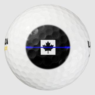 The Symbolic Thin Blue Line on Canadian Flag Golf Balls