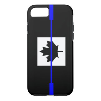 The Symbolic Thin Blue Line on Canadian Flag iPhone 7 Case