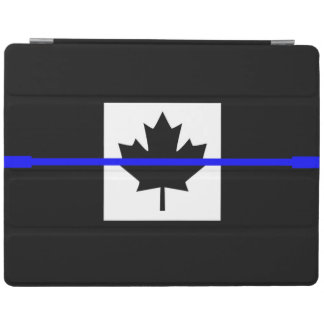 The Symbolic Thin Blue Line on Canadian Maple Leaf iPad Smart Cover