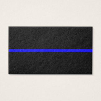 The Symbolic Thin Blue Line on Solid Black Business Card