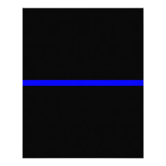 The Symbolic Thin Blue Line on Solid Black Flyer