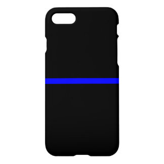 The Symbolic Thin Blue Line on Solid Black iPhone 8/7 Case