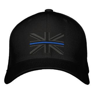 The Symbolic Thin Blue Line on UK Flag Embroidered Baseball Hat
