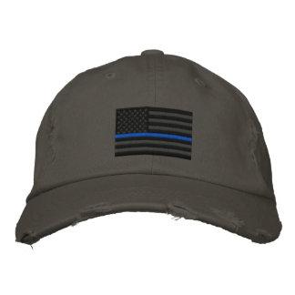 The Symbolic Thin Blue Line on US Flag Cap