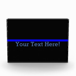 The Symbolic Thin Blue Line Personalize This Acrylic Award
