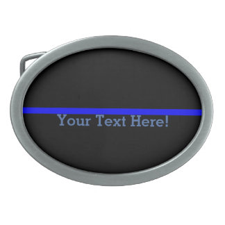 The Symbolic Thin Blue Line Personalize This Belt Buckle