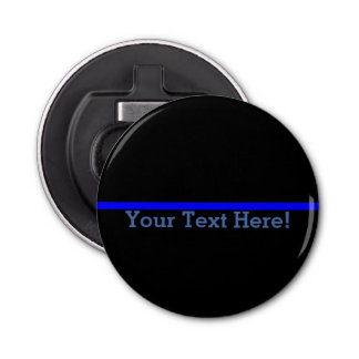 The Symbolic Thin Blue Line Personalize This Bottle Opener