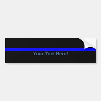 The Symbolic Thin Blue Line Personalize This Bumper Sticker