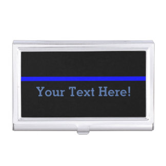 The Symbolic Thin Blue Line Personalize This Case For Business Cards