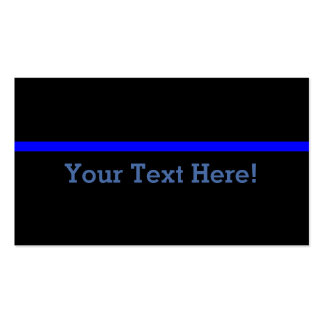 The Symbolic Thin Blue Line Personalize This Double-Sided Standard Business Cards (Pack Of 100)