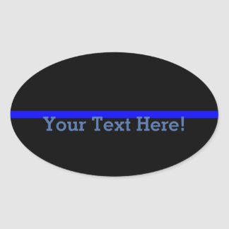 The Symbolic Thin Blue Line Personalize This Oval Sticker
