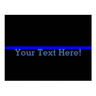 The Symbolic Thin Blue Line Personalize This Postcard