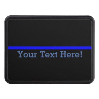 The Symbolic Thin Blue Line Personalize This Trailer Hitch Cover