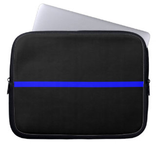 The Symbolic Thin Blue Line Statement Computer Sleeve