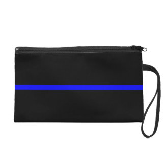 The Symbolic Thin Blue Line Statement Wristlet